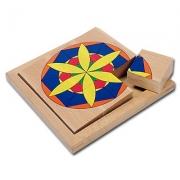 16109 Развивающая игра деревянная Пазл в рамке «Цветок» (от 4 лет)