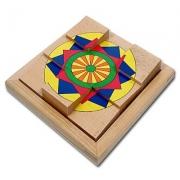 16110 Развивающая игра деревянная Пазл в рамке «Звезда» (от 4 лет)