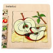 """17039 Развивающая игра деревянная Многослойный пазл """"Как растет яблоко""""  (от 4 лет)"""