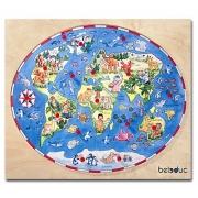 """17125 Развивающая игра деревянная Пазл в рамке """"Дети разных стран мира""""  (от 3 лет)"""