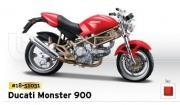 18-51031 Мотоцикл DucatiMonster 900 Bburago
