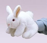 2048 Мягкая игрушка Кролик белый, 20см Folkmanis