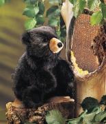 2232 Мягкая игрушка Медвежонок черный 23см Folkmanis