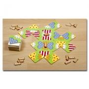 22412 Развивающая деревянная Настольная игра «Бабочки на полянке