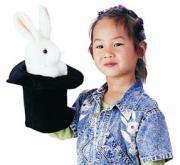 2269 Мягкая игрушка Большой заяц в шляпе, 36см, Folkmanis