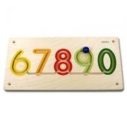23627 Развивающая деревянная Настенная игра «Цифры от 6 до 0» (о