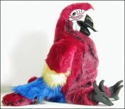 2362 Мягкая игрушка Попугай красный, 63см, Folkmanis