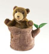 2904 Мягкая игрушка Медведь в пеньке, 25см Folkmanis