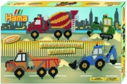 3123 Термомозаика НАМА Набор «Строительные машины» в коробке HAM