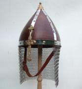 5111201 Шлем кожаный с бармицей р-р 50-52