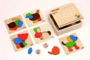 522040 Игра-пазл «Разноцветные животные»  Educo