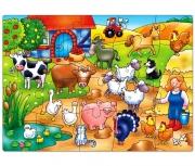 217 Развивающая игра - Пазл «Кто живет на ферме?» +3 Orchard