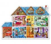 245 Развивающая игра - Напольный пазл «Кукольный домик» +3 Or