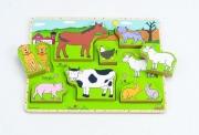 861373 Пазлы-вкладыши «Домашние животные»  (от 1 года) Hape