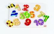 861375 Пазлы-вкладыши «Числа»  (от 2 лет) Hape