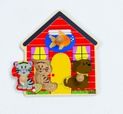 861377 Пазлы-вкладыши «Домашние животные»  (от 1 года) Hape