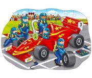 279 Развивающая игра - Напольный пазл «Большая гоночная машин
