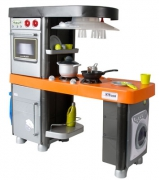 90581 Кухня 5 модулей, оранжевая столешница Coloma