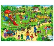 252 Развивающая игра - Напольный пазл «Детская площадка» +3 O