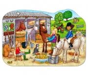 278 Развивающая игра - Напольный пазл «В конюшне» +4 Orchard