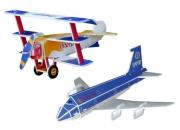 SP01-0016 «Пассажирский Самолет и Фоккер DR-1» Scholas