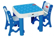 TB-9945 Парта + 2 стула голубые Edu-Play