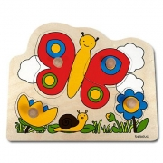 10128 Развивающая игра деревянная Пазл-вкладыш «Бабочка» (от 1 года)